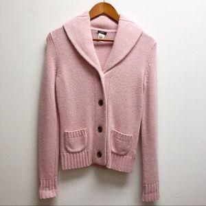 J. Crew pink cashmere sweater